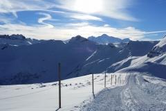 sur les piste de ski